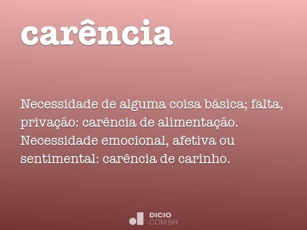 car�ncia