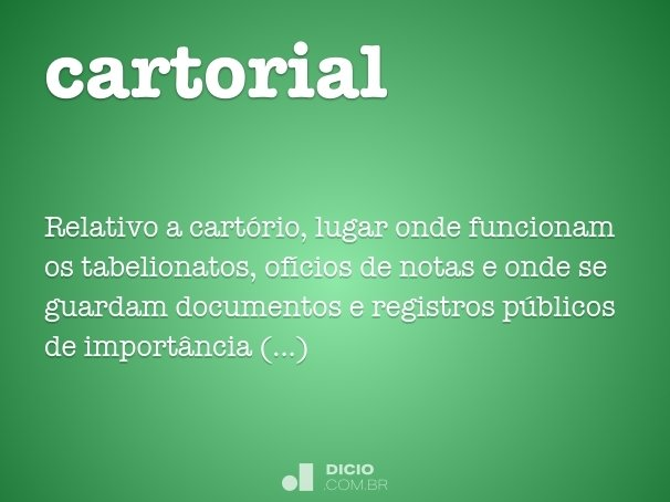 cartorial