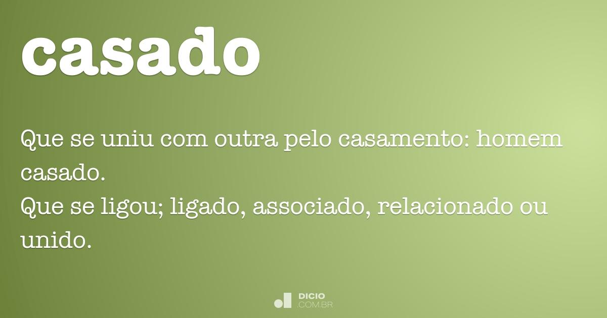 Casado Dicio Dicionário Online De Português