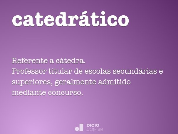 catedr�tico