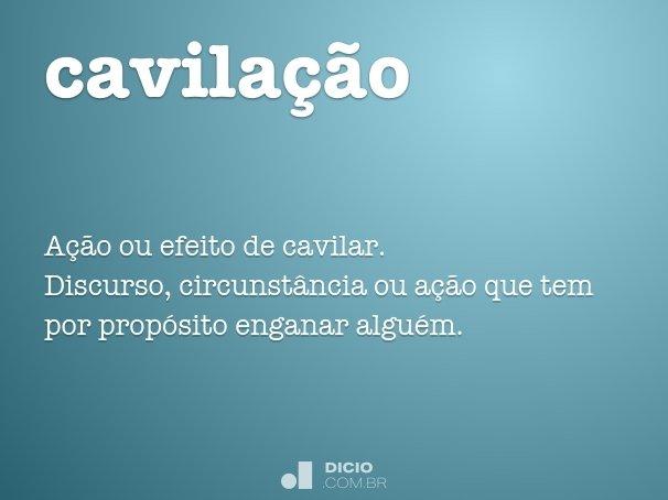 cavila��o