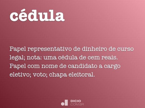 c�dula