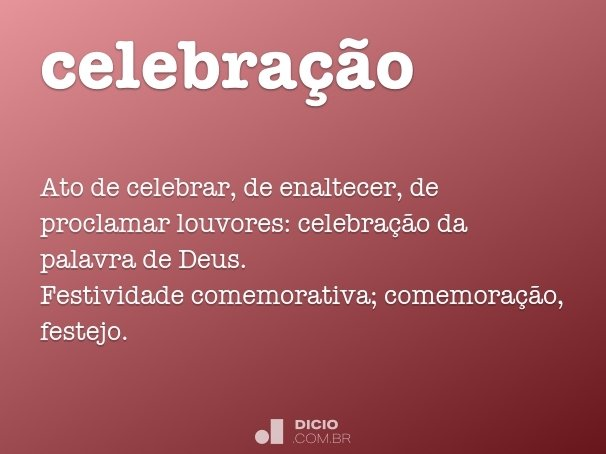 celebra��o