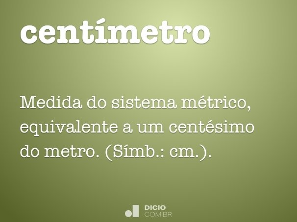 centímetro