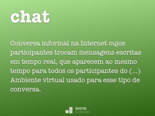 Qual o significado de chatting
