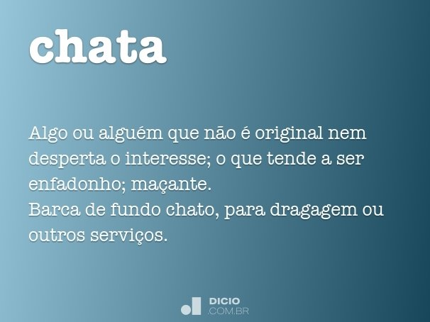 Significado da palavra chat em portugues
