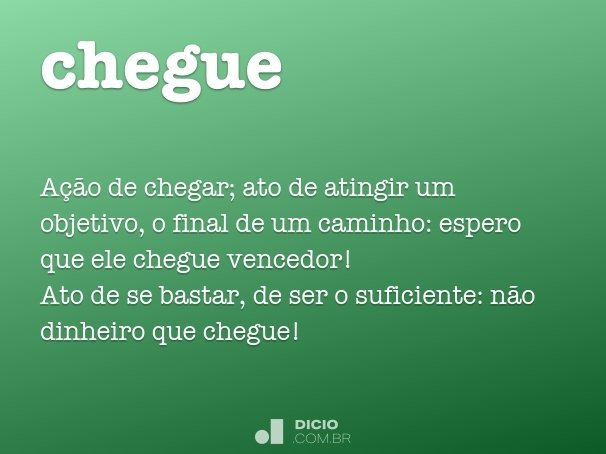 chegue