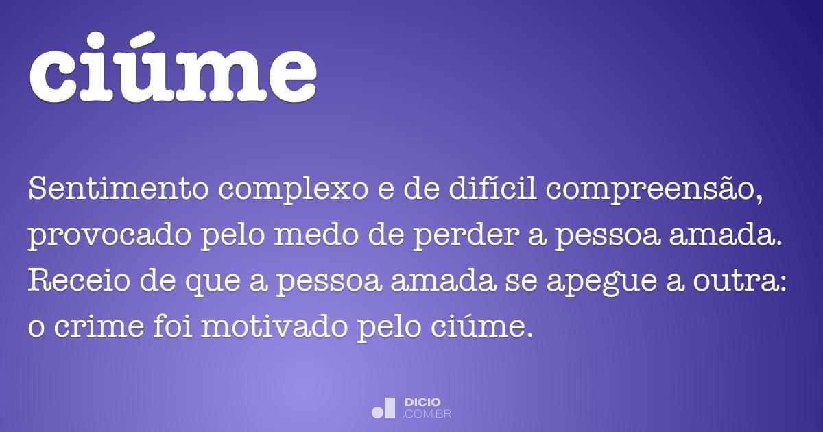 Ciúme Dicio Dicionário Online De Português