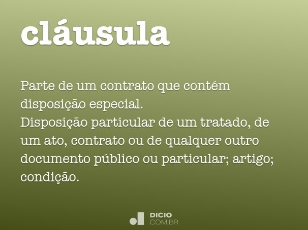 cl�usula