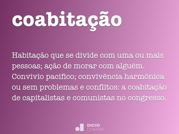 coabita��o
