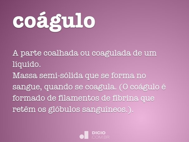 coágulo