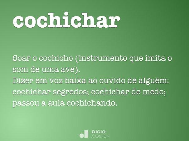 cochichar