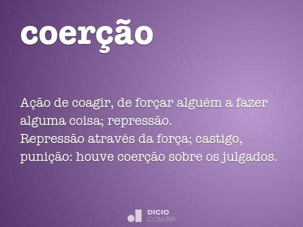 coer��o