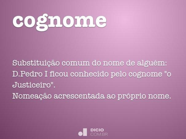 cognome