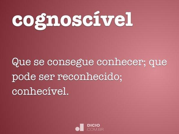 cognosc�vel
