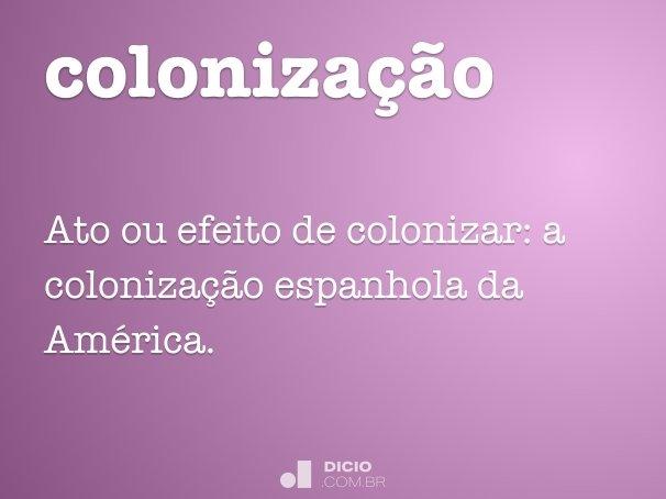 coloniza��o