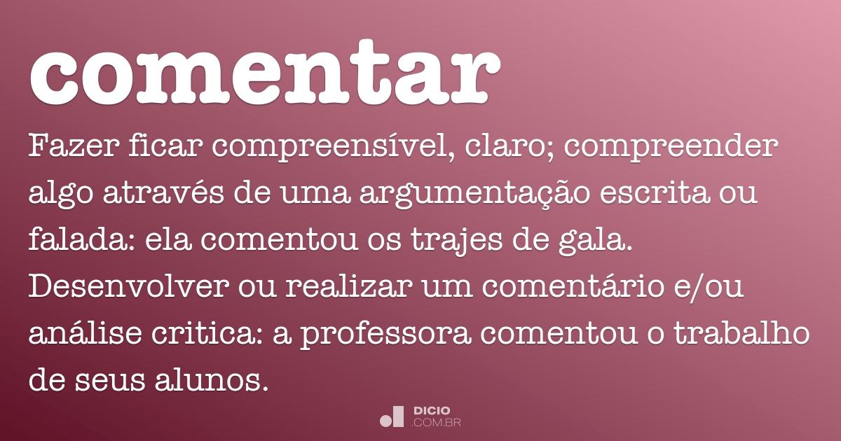 Comentar Dicio Dicionário Online De Português