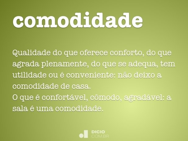 comodidade