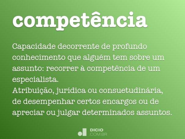 compet�ncia