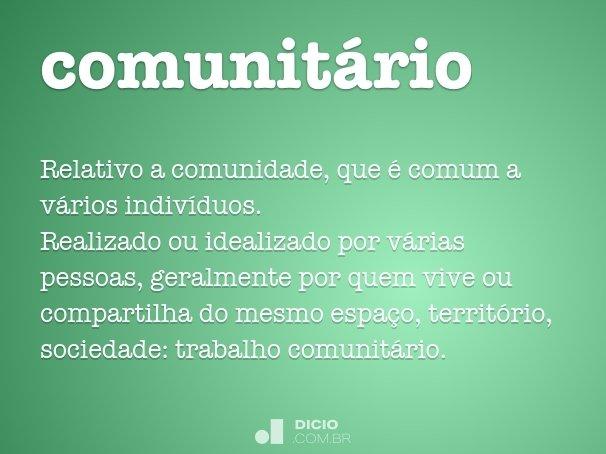 comunit�rio