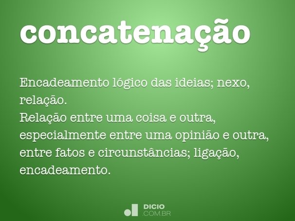 concatena��o