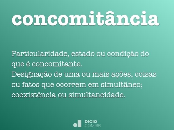 concomit�ncia