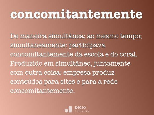 concomitantemente