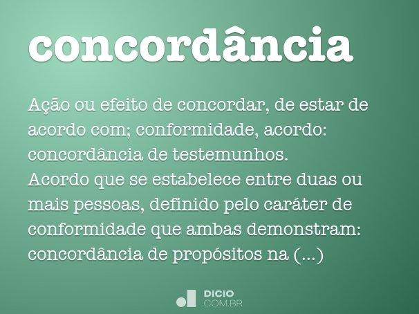 concordância