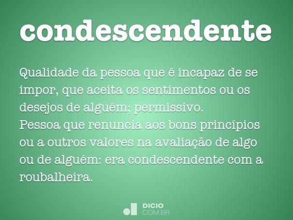 condescendente