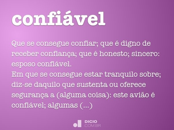 confi�vel