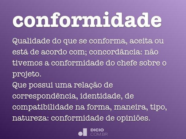 conformidade