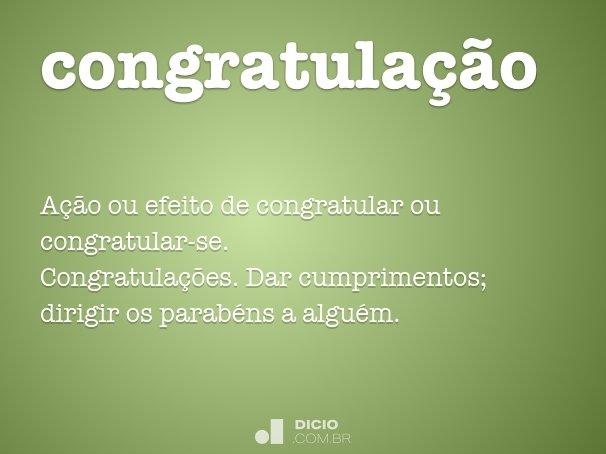 congratula��o