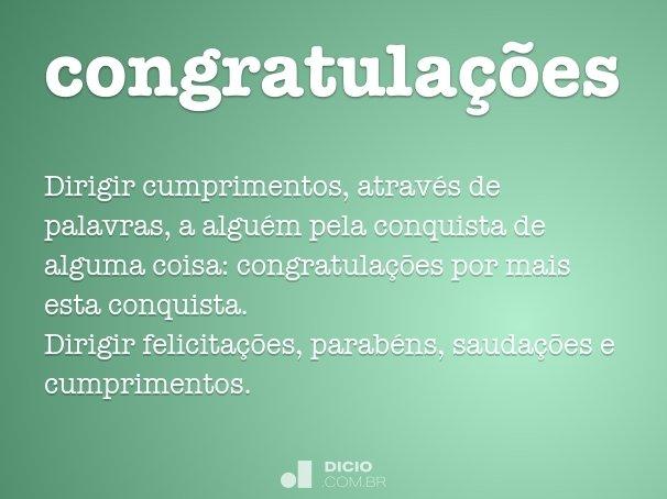 congratulações