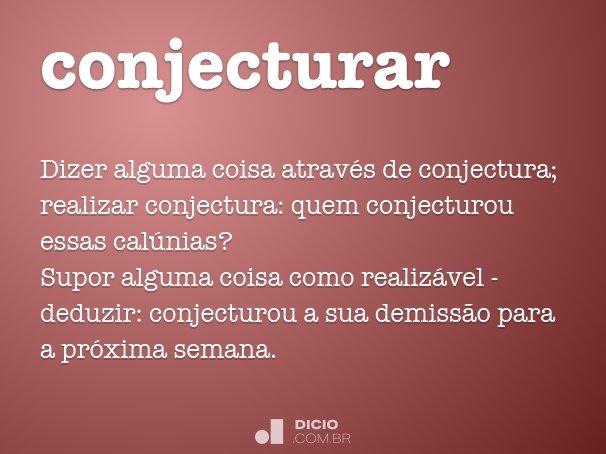 conjecturar