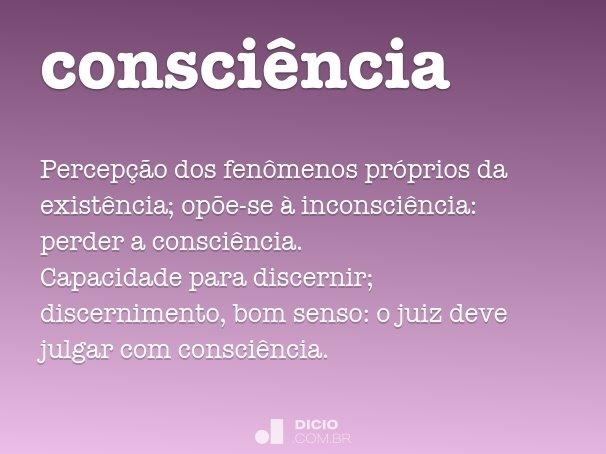 consci�ncia
