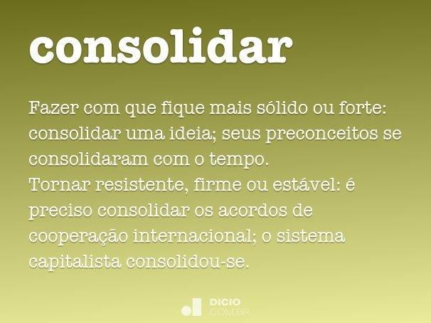 consolidar