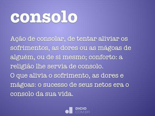 Consolo Dicio Dicionário Online De Português