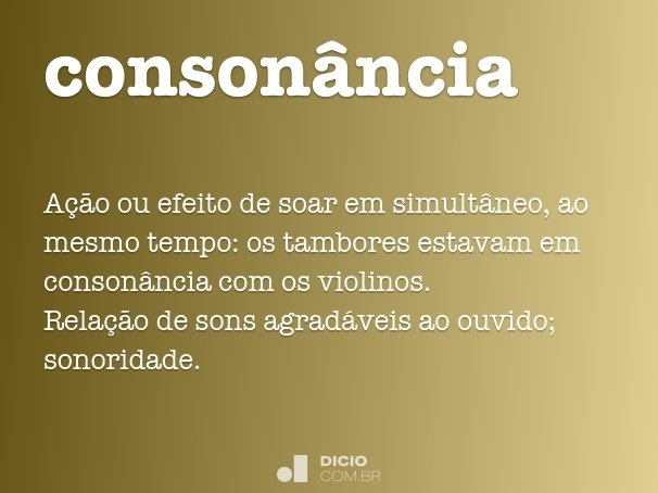 conson�ncia
