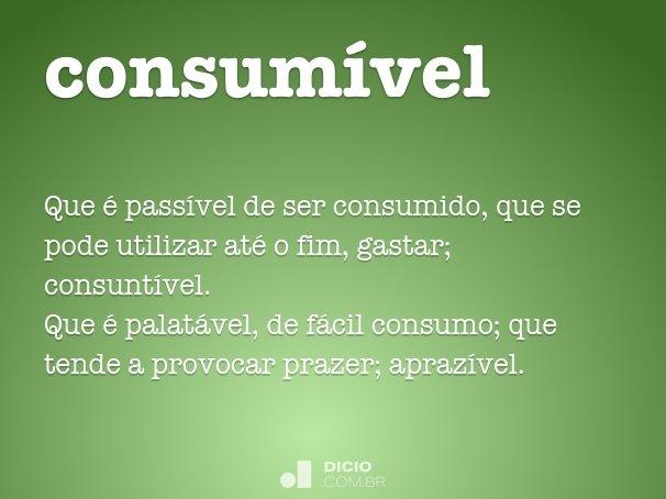 consum�vel