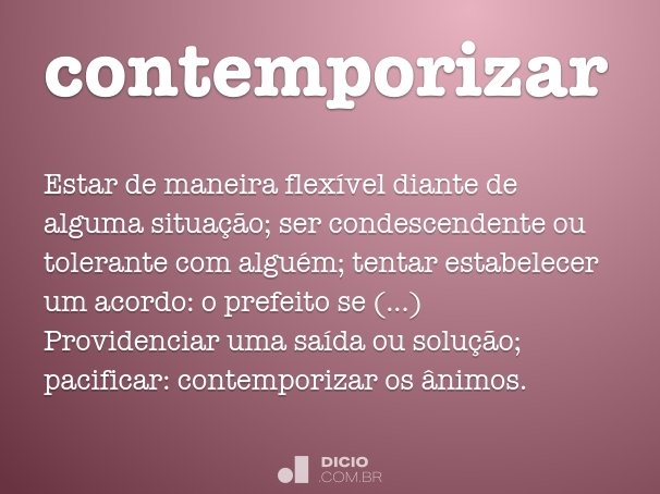 contemporizar