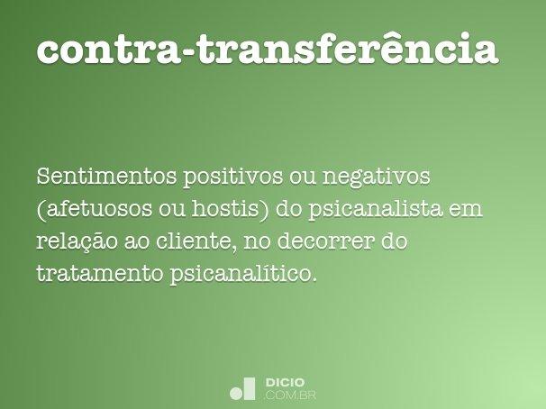 contra-transfer�ncia