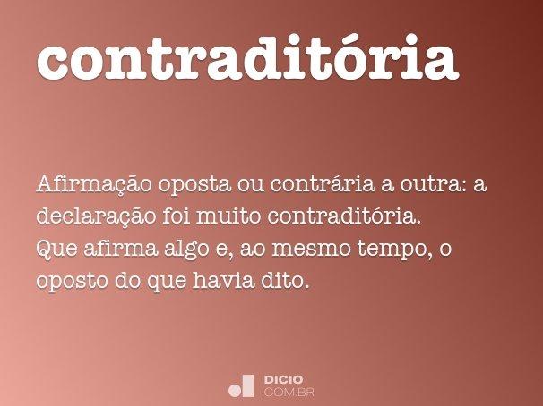 contraditória