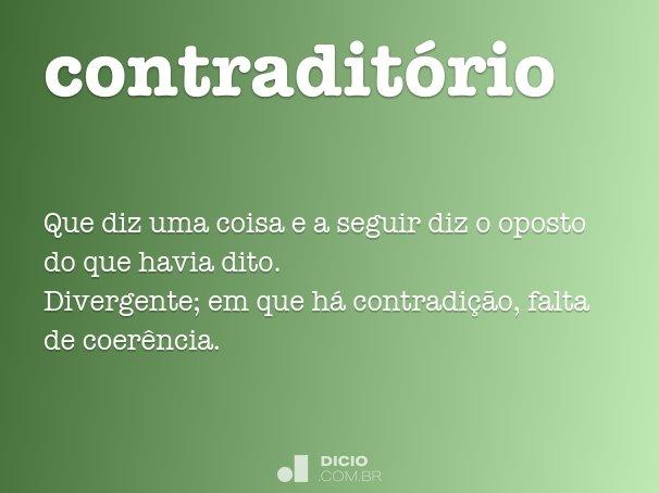 contradit�rio