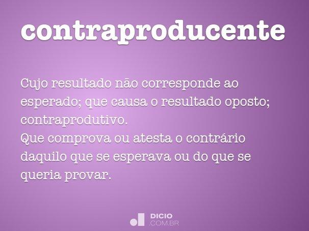 contraproducente