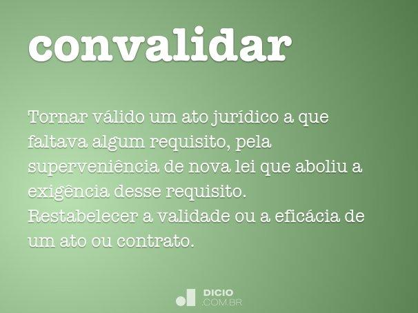 convalidar
