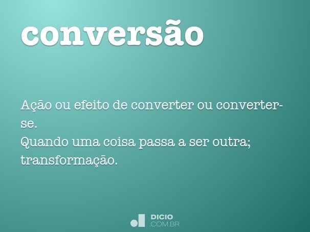 conversão