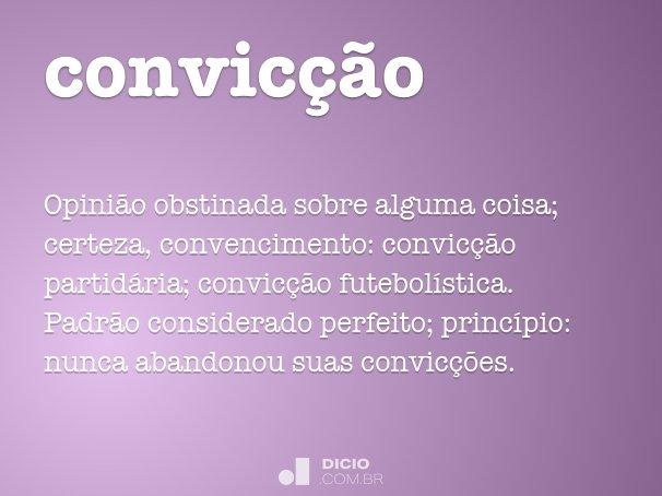 convic��o