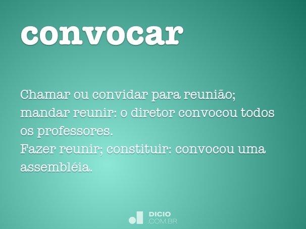 convocar