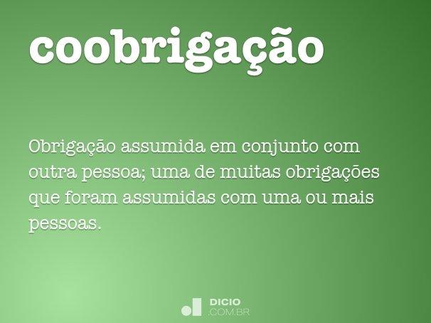 coobriga��o