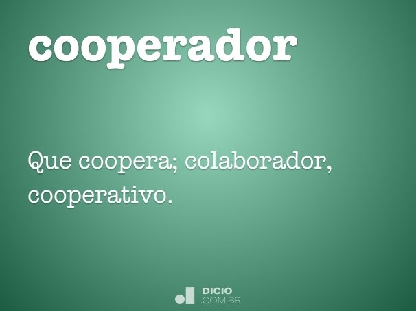 cooperador